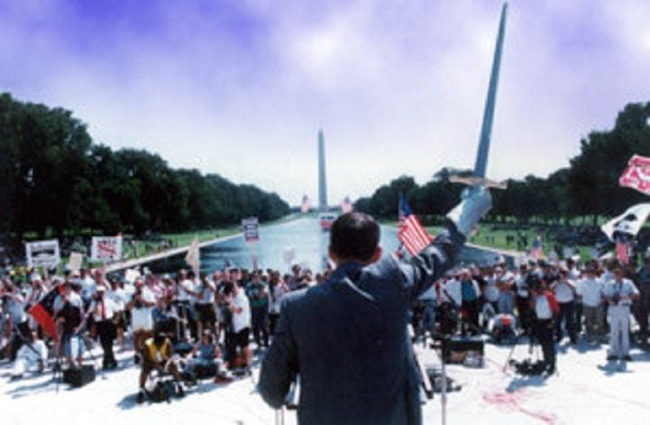 Carl Haggard at Washington Monument